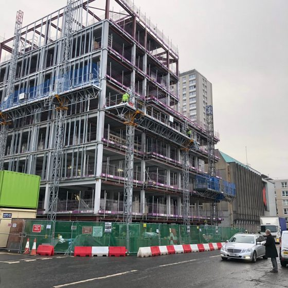 dunblane street student accommodation construction building